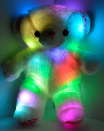 glow in the dark teddy pillow